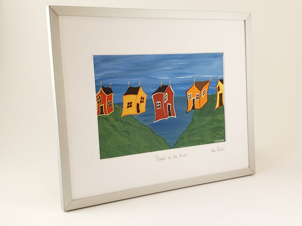 Blowin' in the Wind framed print by Karl Penton