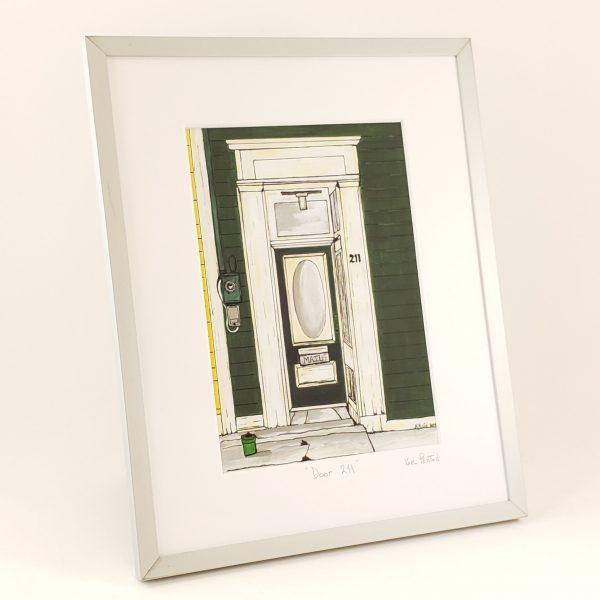 Door 211 framed print by Karl Penton