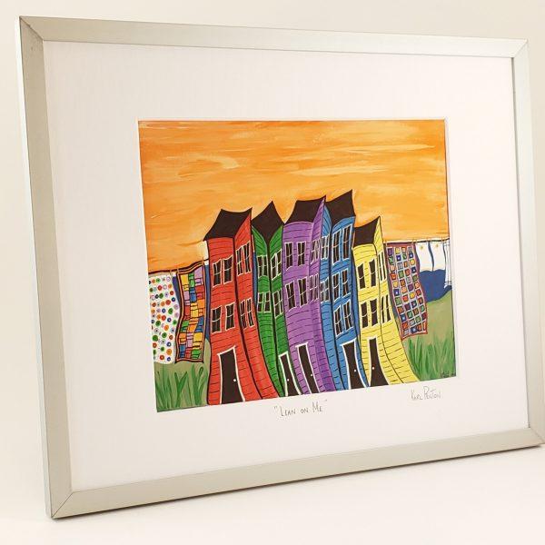 Lean on Me framed print by Karl Penton