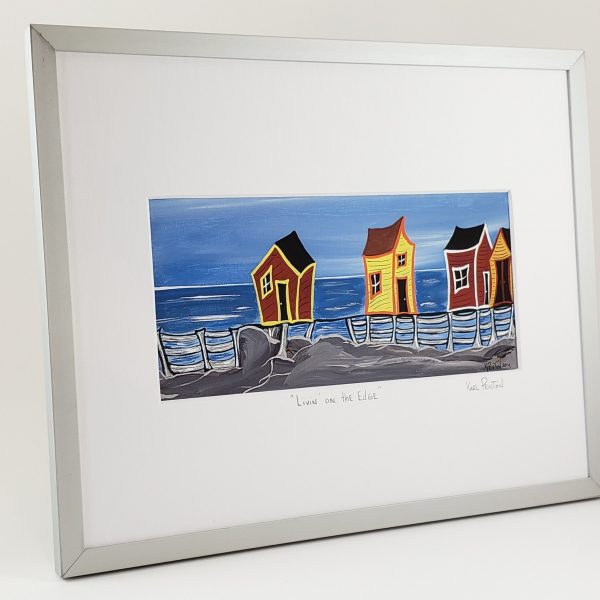 Livin' on the Edge framed print by Karl Penton
