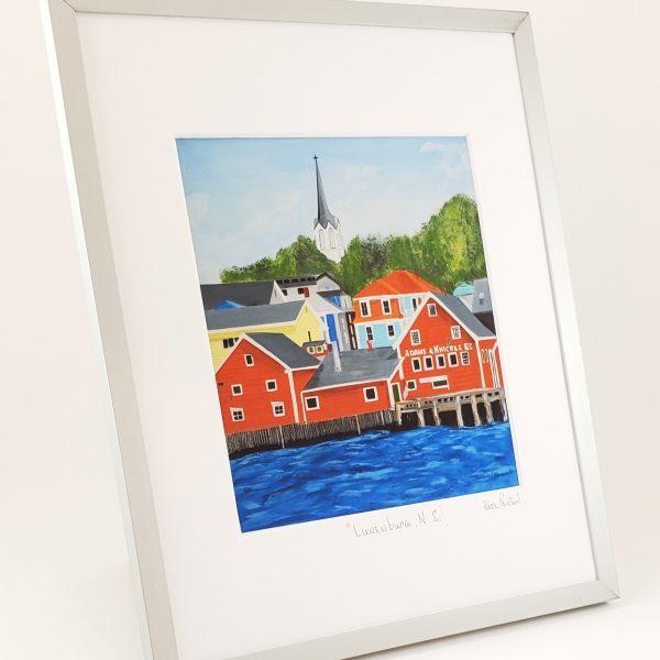 Lunenburg framed print by Karl Penton