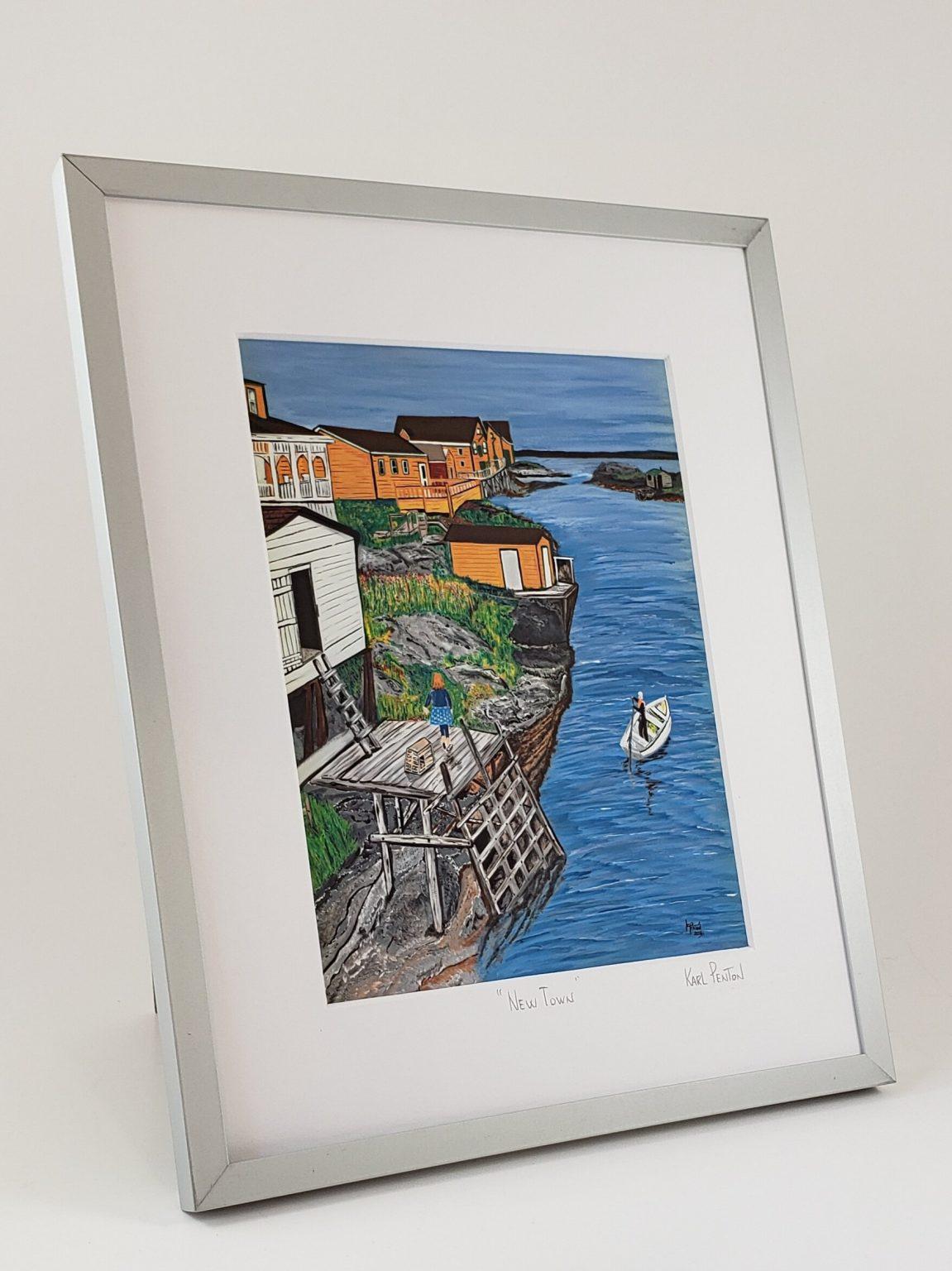 New Town framed print by Karl Penton