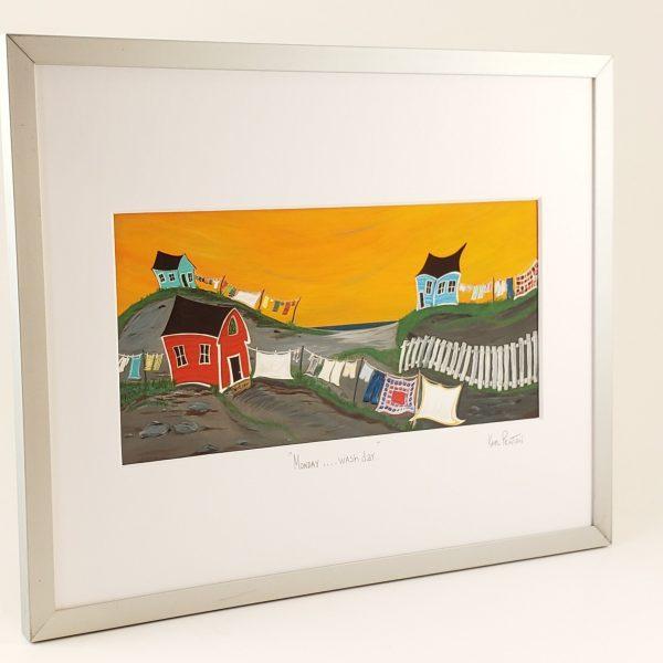 Monday Wash Day framed print by Karl Penton