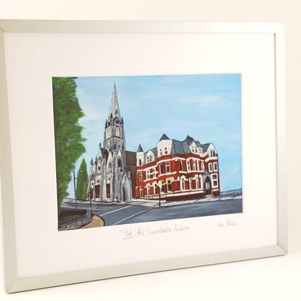 Not the Lunenburg Academy framed print by Karl Penton