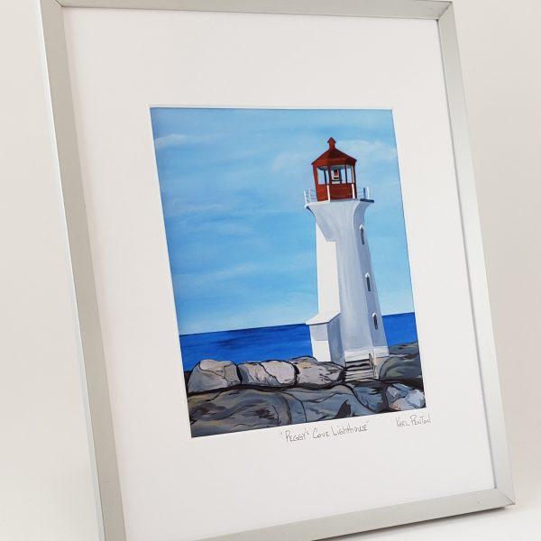 Peggy's Cove Lighthouse framed print by Karl Penton