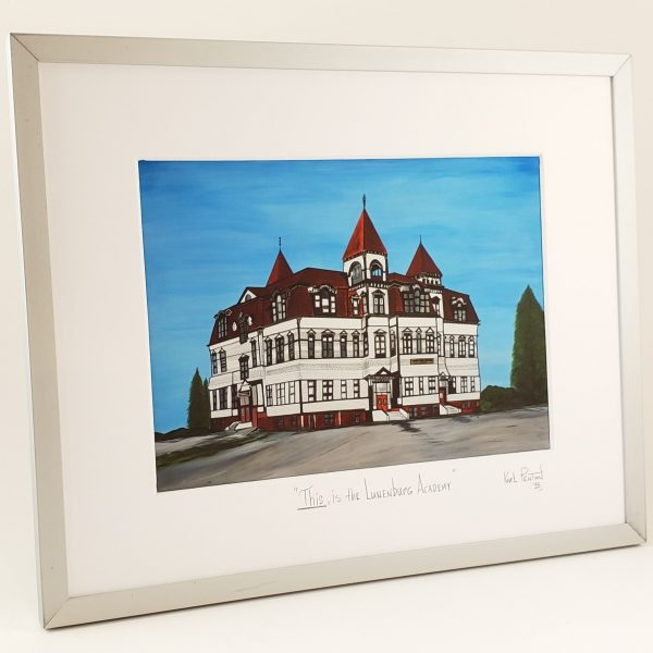 This is the Lunenburg Academy framed print by Karl Penton