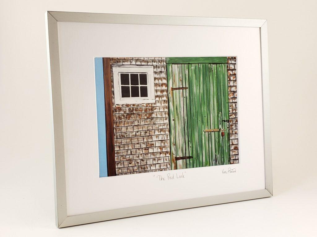 The Red Lock framed print by Karl Penton