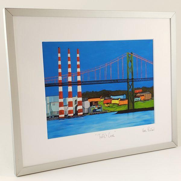 Tuft's Cove framed print by Karl Penton