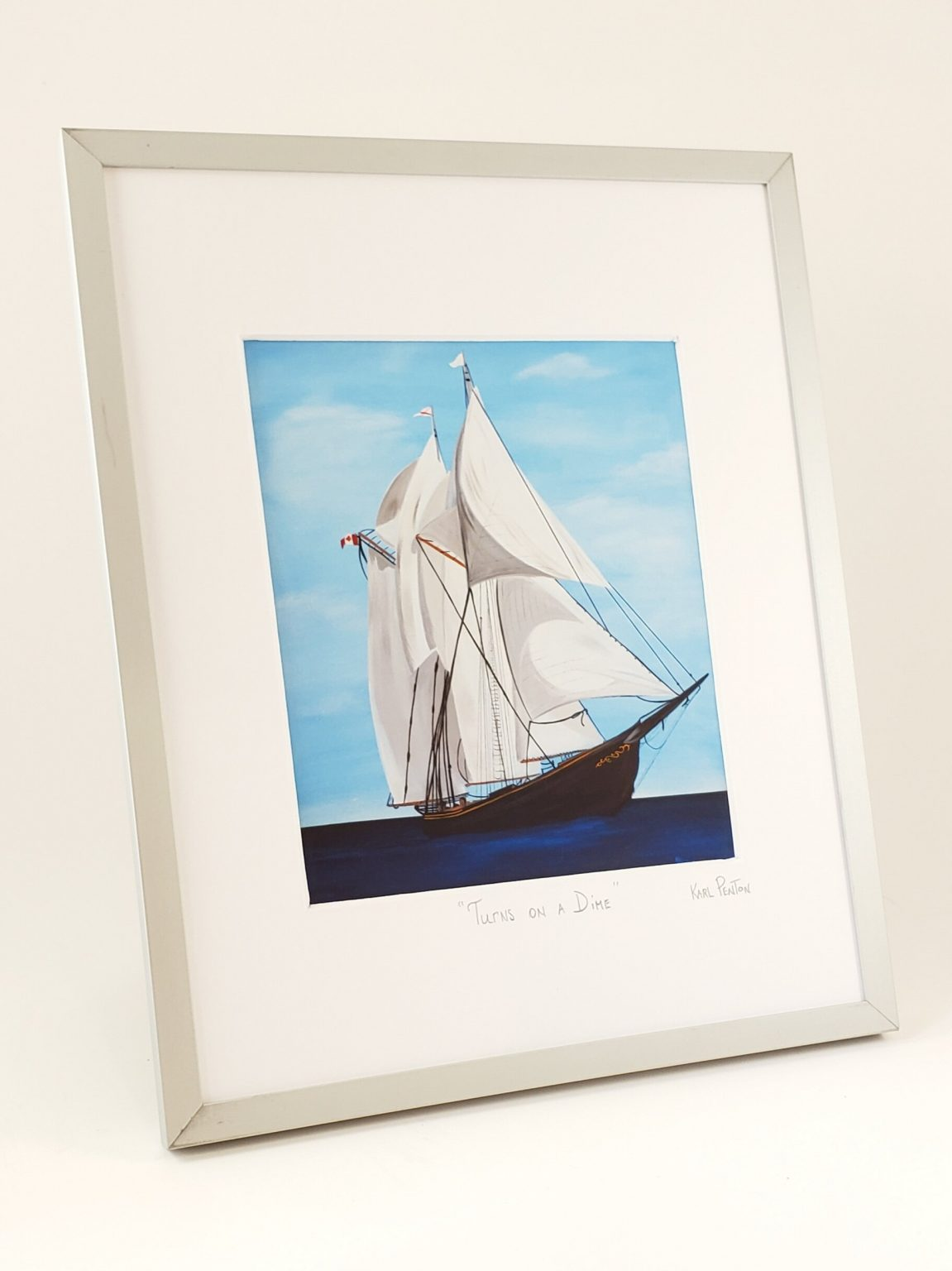 Turns on a Dime framed print by Karl Penton