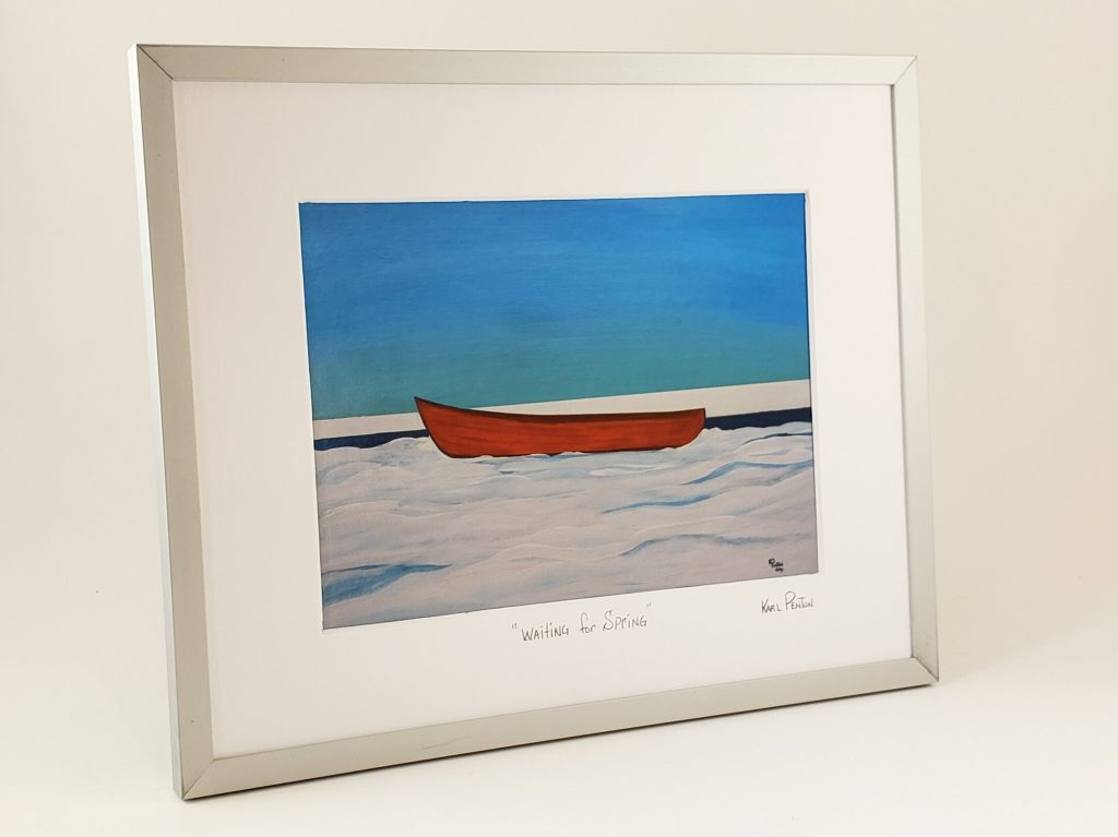 Waiting for Spring framed print by Karl Penton