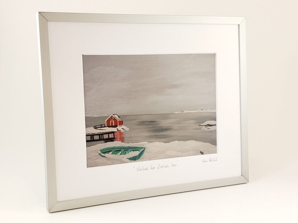 Waiting for Spring Too framed print by Karl Penton