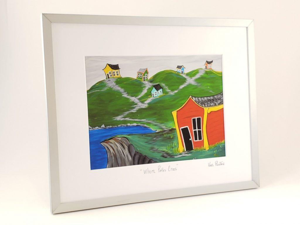 Where Paths Cross framed print by Karl Penton