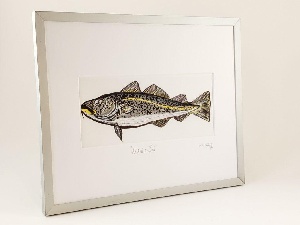 Atlantic Cod framed painting by Karl Penton