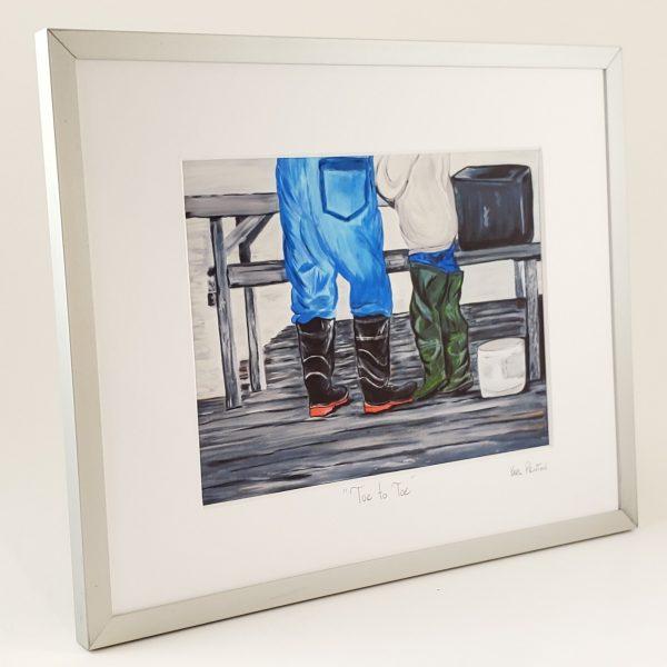 Toe to Toe by framed print Karl Penton