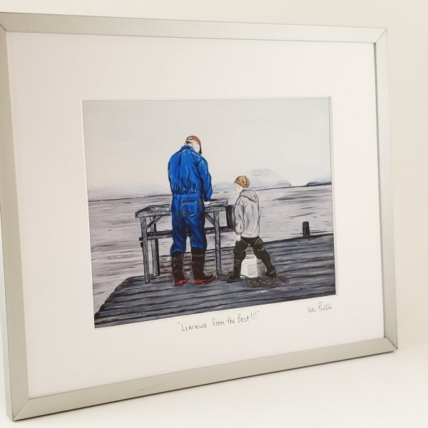 Learning from the Best framed print by Karl Penton