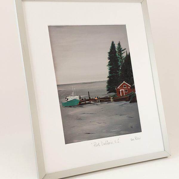 Port Dufferin framed print by Karl Penton