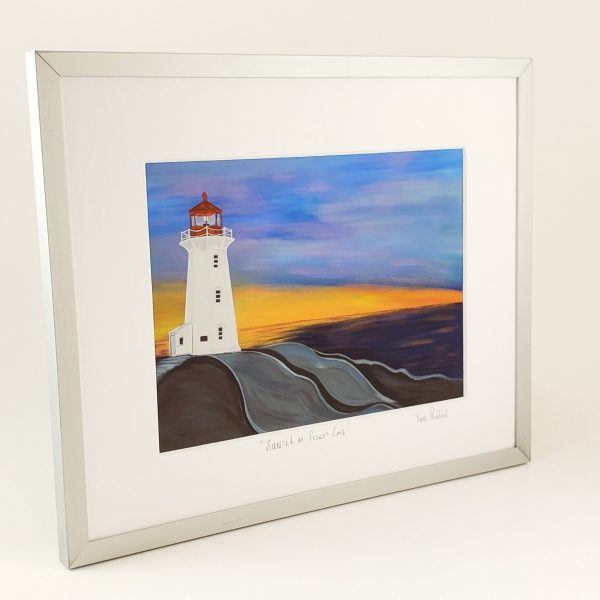 Sunset at Peggy's Cove framed print by Karl Penton