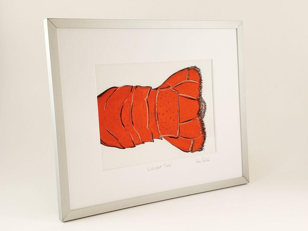 Lobster Tale framed painting by Karl Penton