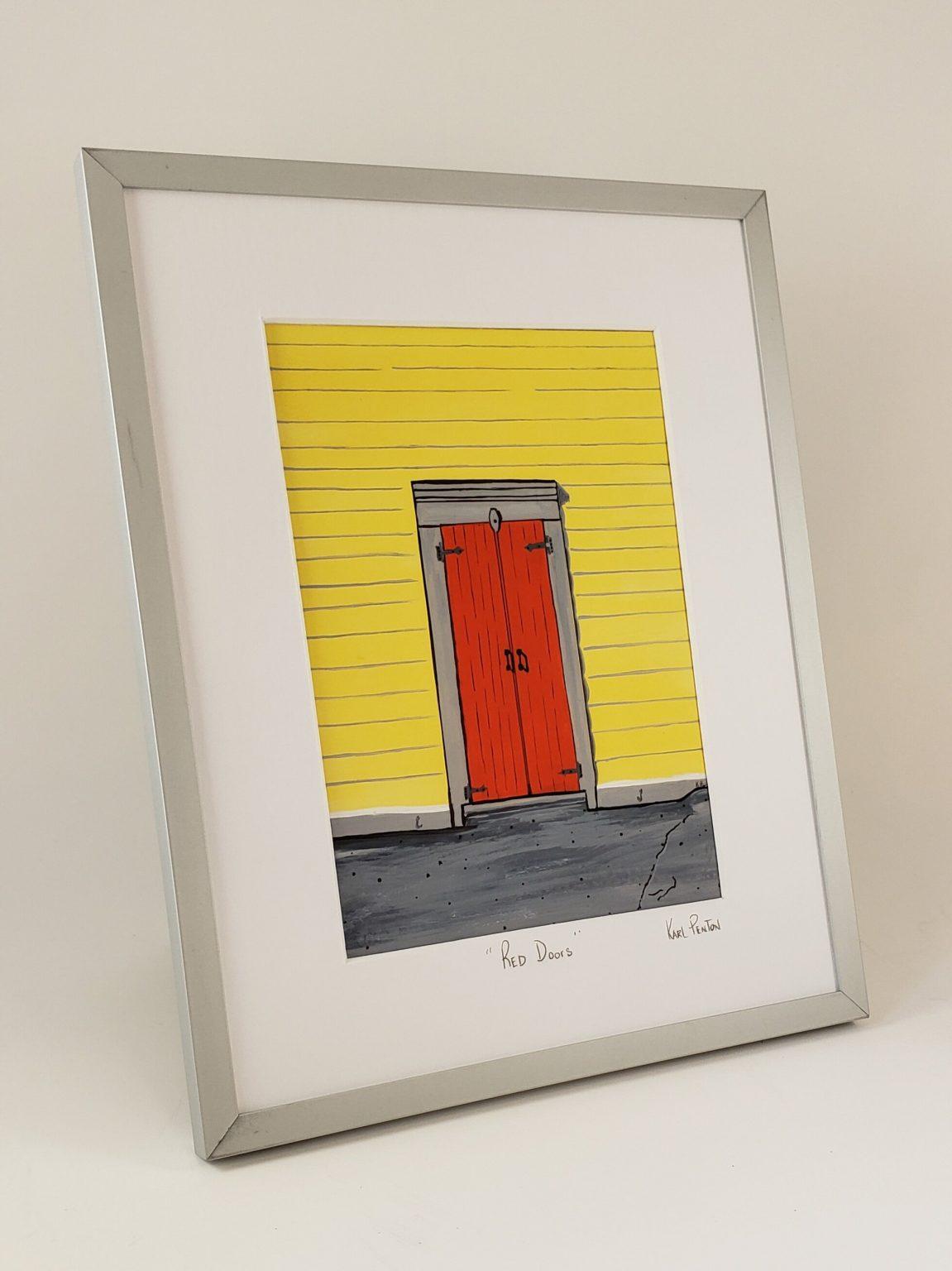 Red Doors framed print by Karl Penton