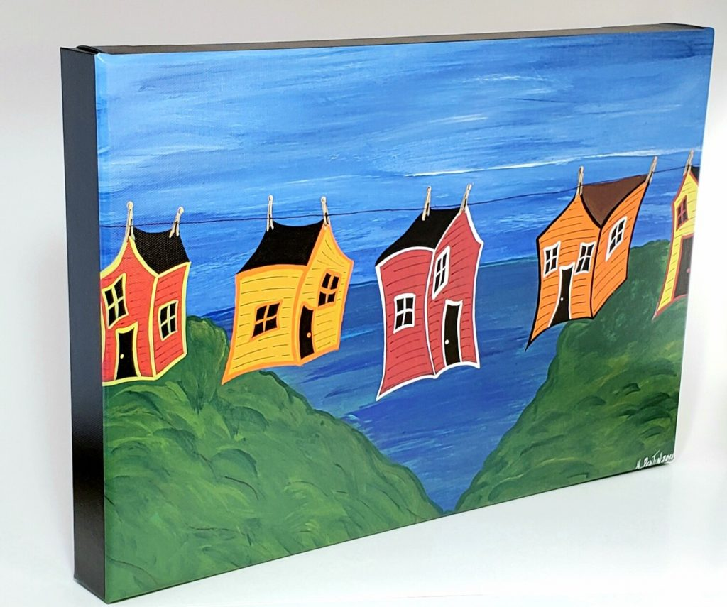 Blowin' in the Wind gallery wrapped canvas print by Karl Penton