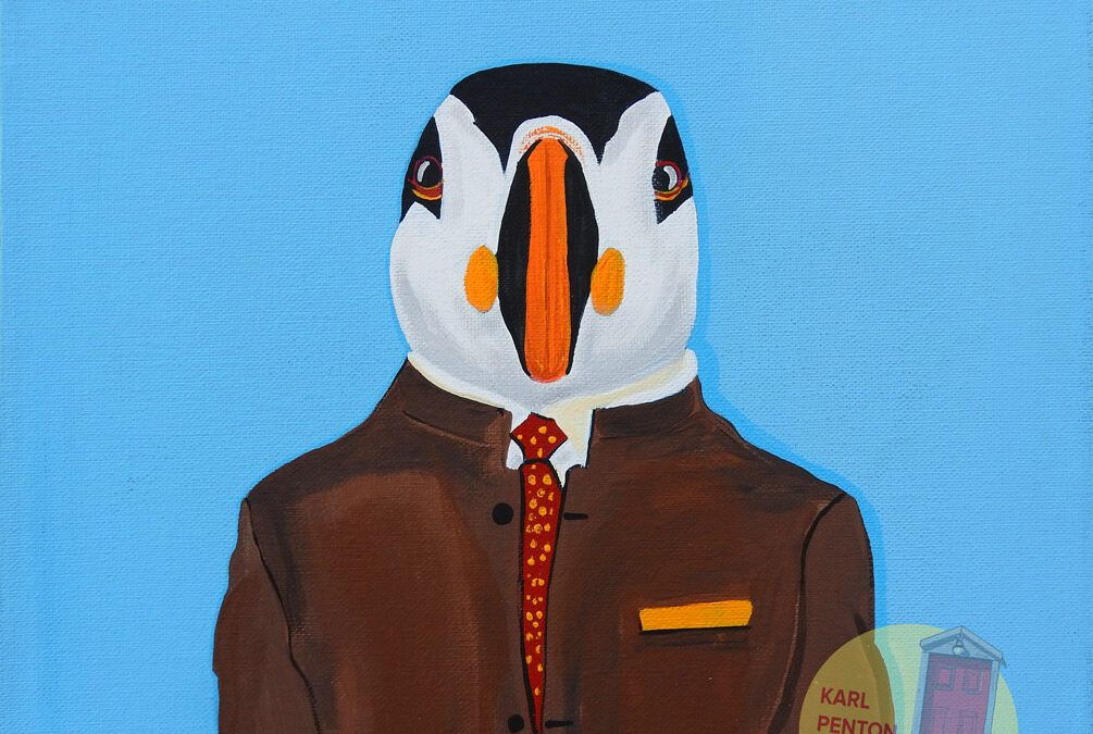 Blue Puffin by Karl Penton