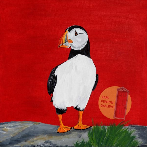 Red Puffin by Karl Penton