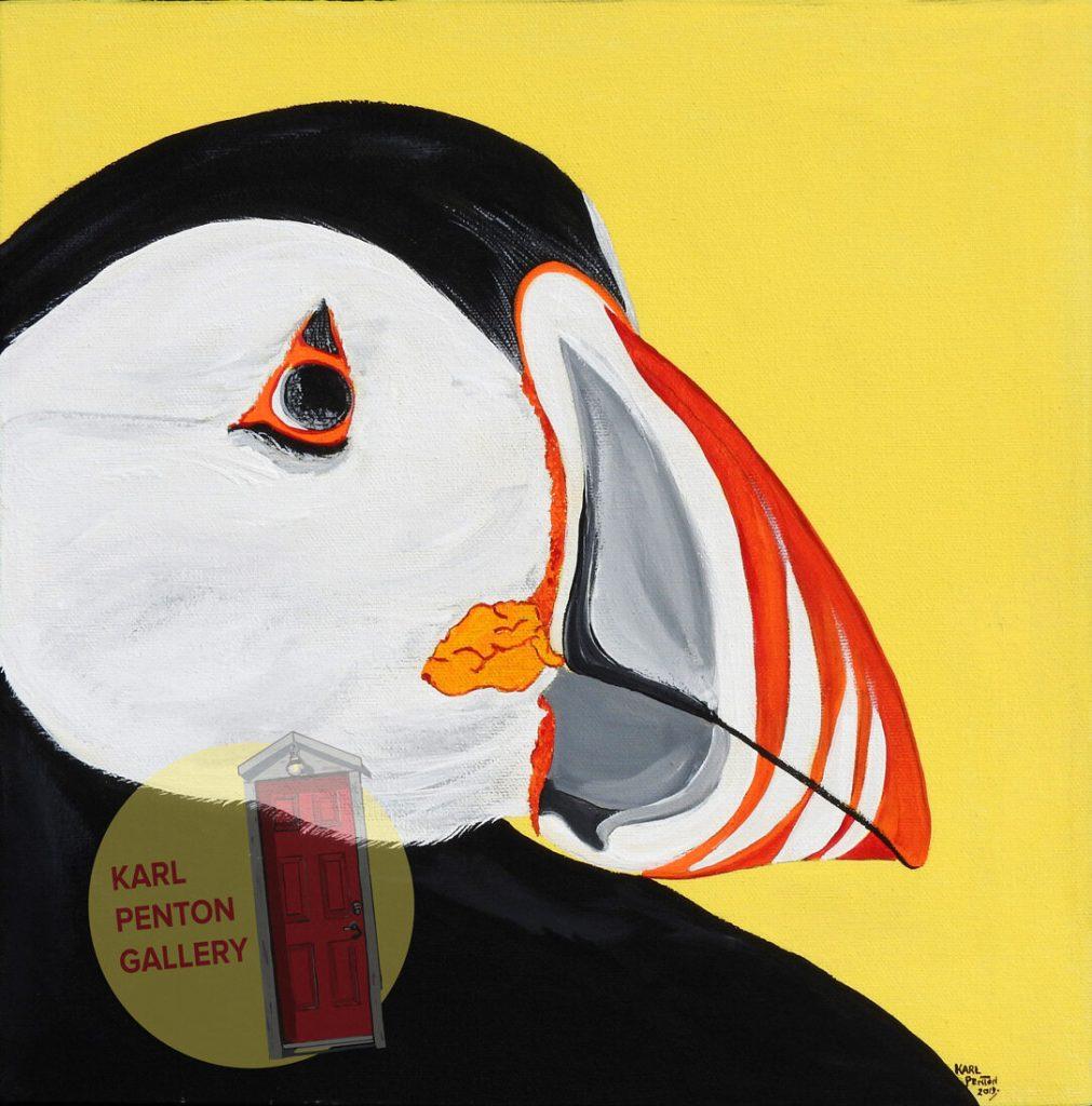 Yellow Puffin by Karl Penton